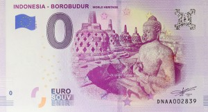 0 Euro - Indonesia - Borobudur - Indonezja - 2019